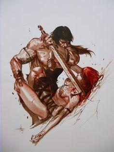Conan Vs Red Sonja by Gabriele Dell'Otto #Conan #RedSonja #GabrieleDellOtto