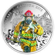 15 Dollar Silber Feuerwehrleute PP