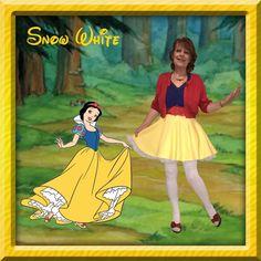Disney Movie, Disney's Snow White, Snow White Disneybound, Disney Princess, Disney Princess Disneybound, Blue Shirt Disneybound, Red Cardigan Disneybound, Yellow Skirt Disneybound, Disneybound Blue, Disneybound Red, Disneybound Yellow