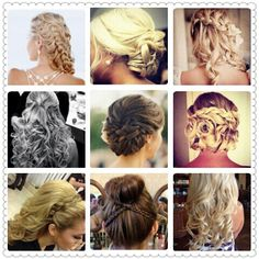 """Pageant hair ideas...now don't get crazy some a fun fashion, some evening wear and some are """"girl what were you thinking."""" Enjoy!"""