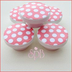 Dresser Knobs  Drawer Knobs  Coral   by SweetPetitesBoutique