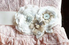 Rustic Burlap Wedding Sash by Paxty on Etsy, $79.00