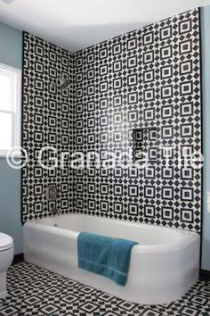 Bold Fez for a chic bathroom