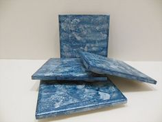 Decorative Ceramic Tiles  Painted Ceramic by AuroraBottleLights, $14.00