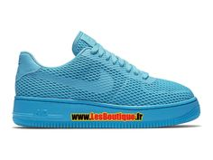 Nike Wmns Air Force 1 Low Upstep BR - Chaussures Nike Sportswear Pas Cher Pour Femme/Enfant Bleu gamma/Bleu lagon/Bleu gamma 833123-400