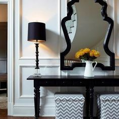 Pottery Barn Console Table, Transitional, entrance/foyer, Chango & Co.