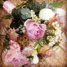 Dusky pink Brides Bouquet by Passion4Plants Florist Baildon