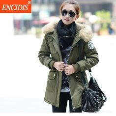 54.58$  Watch now - http://ali0q6.worldwells.pw/go.php?t=32718270421 - Women coat Winter and Autumn 2016 Fashion Casual Plis size Lady Parkas overcoat Female Clothing Hooded Fur collar Jackets M19
