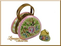 Limoges Fl Handbag With Purse By Beauchamp Print Box Cute Glass