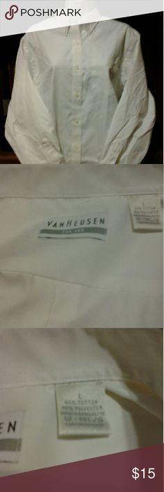Shirt Van Huesen white long sleeve dress shirt/new without tags Van Heusen Tops Button Down Shirts