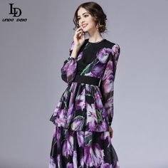 Flare Sleeve Holiday Beach Bohemian Plantain leaves Print Casual Loose Long Dress Love it? www.storeglum.com... #shop #beauty #Woman's fashion #Products