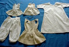 5 Antique Edwardian Dolls Clothes. 19001915 by chalcroft on Etsy, $26.00