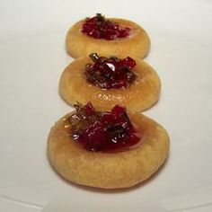 Cheesy Thumbprint Appetizers with Hot Pepper Jelly Allrecipes.com