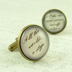 Shakespeare cufflinks