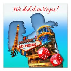 Las Vegas Wedding Reception Las Vegas Couple Wedding Reception Card