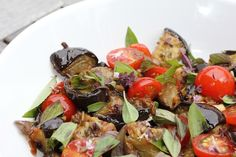 Roasted Eggplant Salad with Asian Ginger Sauce - Melissa Clark - Food Writer