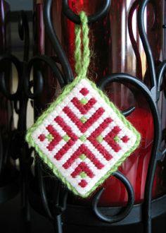 Swedish Ornament Needlepoint Pattern and Instructions