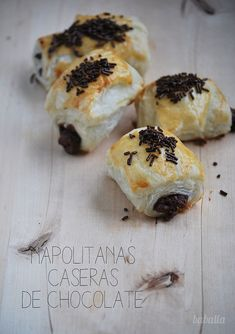 mini napolitanas de chocolate receta