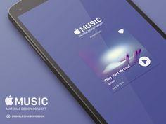 Apple Music Material Design