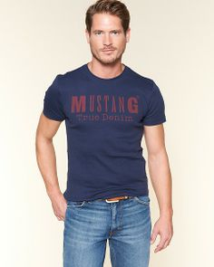 MUSTANG tričko modré