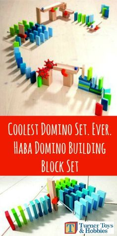 What can your child invent with Haba Domino Building Block Set?  It's a combination of dominos and ball track.