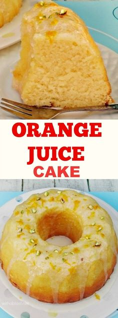 Quick, easy and bursting with Spring flavor ! This Orange Juice Cake takes literally minutes to prepare and it turns out super moist !