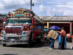 Guatemala.  Chicken Bus.
