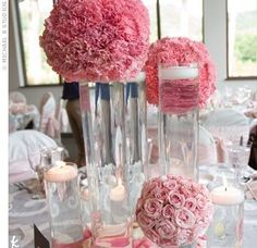 Wedded: Ever After: Non-Floral Centerpieces - I think this is tissue paper