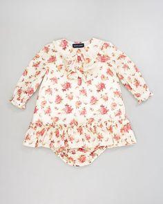 Floral Ruffle Dress, 12-24 Months by Ralph Lauren Childrenswear at Bergdorf Goodman.