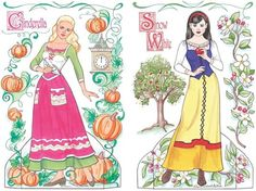Fairy Tale Princesses Paper Dolls* 1500 free paper dolls at Arielle Gabriels International Paper Doll Society also free paper dolls at The China Adventures of Arielle Gabriel *