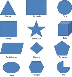 Worksheets Maths Shapes With Names shape names geometric shapes and on pinterest formula charts shapes