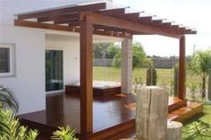 Pergola For Small Backyard Product Pergola Patio, Patio Canopy, Deck With Pergola, Backyard Patio, Backyard Landscaping, Outdoor Spaces, Outdoor Living, House Trim, Building A Pergola