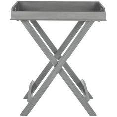 Brayden Studio Marcantonio Tray Table Finish: Gray