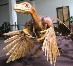 Bambiraptor replica. See it at the Bollinger County Museum in Marble Hill