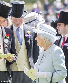 Having fun: The Queen and Prince Harry share a joke  17 June 2014