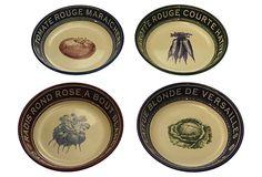S/4 Assorted Legumes Soup/Pasta Bowls on OneKingsLane.com