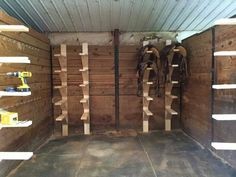 Easy diy Saddle racks