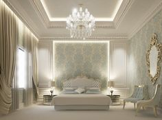 Private palace interior design - Dubai - UAE contemporary rendering
