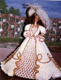 Crochet Fashion Doll Barbie Pattern 175 VAN by JudysDollPatterns