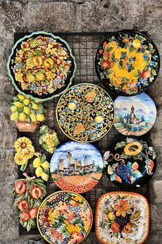 Gorgeous Italian ceramics in Ravello, Italy-- Amalfi Coast ||| leave me at message if you know a good source of these ceramics in the US. ~tms~