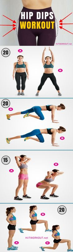 All the ladies want to fill out their hips and get a nicely shaped beach body. That's exactly what this hip dips workout does!