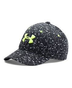 Boys' Under Armour Printed Blitzing Cap, Black (001), Small/Medium ** Want to know more, visit