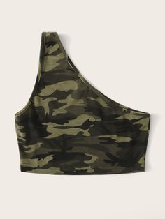 One Shoulder Camo Crop Tank Top for sale Australia Teenage Girl Outfits, Girls Summer Outfits, Girls Fashion Clothes, Camo Outfits, Crop Top Outfits, Trendy Outfits, Camo Fashion, Black Girl Fashion, Cropped Tank Top
