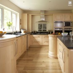 Interior kitchen design: contemporary maple kitchen, Shaker enlarged image