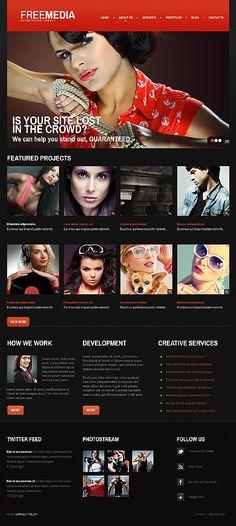 Freemedia Advertising Joomla Templates by Sawyer