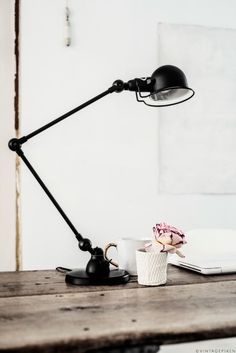 INDUSTRIAL DECOR: BLACK TABLE LAMPS_see more inspiring articles at http://vintageindustrialstyle.com/industrial-decor-black-table-lamps/