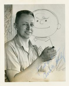 Signed Photo of Charles Schulz