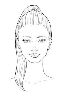 Drawing Hairstyles For Your Characters Hair Hairstyles Drawing - Hair Styles Fashion Design Drawings, Fashion Sketches, Drawing Fashion, Fashion Figure Drawing, Fashion Illustration Face, Fashion Illustration Template, Fashion Illustrations, Face Sketch, Poses References