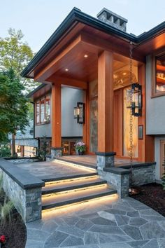93 Stunning Modern Entrance Staircase Design Ideas - Breathtaking Modern Entrance Staircase Style and Style Thoughts - the Conspiracy Conventional will not need to suggest monotonously. Some modern-day Bungalow House Design, House Front Design, Modern House Design, Glass House Design, Yard Design, Split Level Remodel, Exterior Remodel, Dream House Exterior, House Exteriors