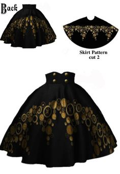 Circle Gear Skirt  by Amber Middaugh #Steampunk